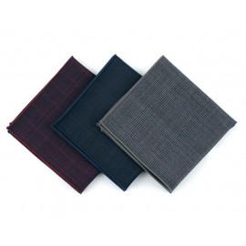 [MAESIO] KHC8045 Handkerchief Check_ Men's Handkerchief Mens Pocket Squares, Made in Korea