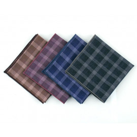 [MAESIO] KHC8046 Handkerchief Check_ Men's Handkerchief Mens Pocket Squares, Made in Korea