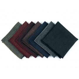 [MAESIO] KHC8049 Handkerchief Melange herringbone_ Men's Handkerchief Mens Pocket Squares, Made in Korea
