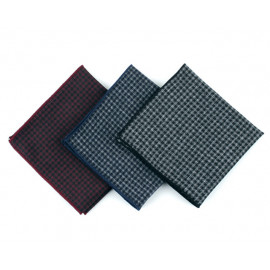 [MAESIO] KHC8050 Handkerchief hound tooth_ Men's Handkerchief Mens Pocket Squares, Made in Korea