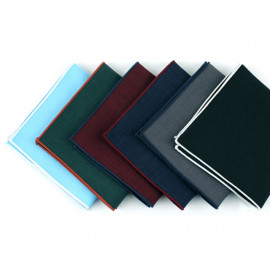 [MAESIO] KHC8505 Handkerchief Solid(Line)_ Men's Handkerchief Mens Pocket Squares, Made in Korea