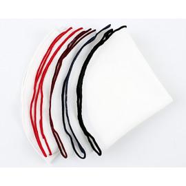 [MAESIO] KHC8507 Handkerchief White(Round_ Men's Handkerchief Mens Pocket Squares, Made in Korea