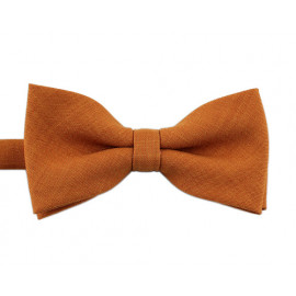 [MAESIO] BOW7177 BowTie Solid Cotton Honey Mustard  _ Pre-tied bow ties Formal Tuxedo for Adults & Children, For Men Boys, Business Prom Wedding Party, Made in Korea