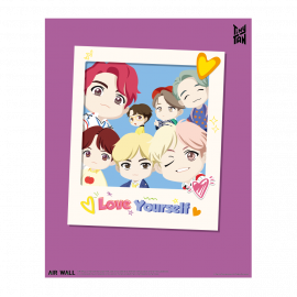 [Airtec] BTS, TinyTAN, Air Purification, Deodorization Poster Air Wall TinyTAN_1 _ Made in KOREA