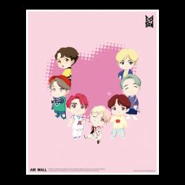 [Airtec] BTS, TinyTAN, Air Purification, Deodorization Poster, Air Wall, TinyTAN_2 _ Made in KOREA