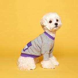 [FLOT] Anorak Sweatshirt, gray purple, Dog Clothes _ Dog Shirts, Pet T-Shirts _ Made in KOREA