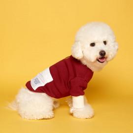 [FLOT] Anorak Sweatshirt, Burgundy Ivory, Dog Clothes _ Dog Shirts, Pet T-Shirts _ Made in KOREA
