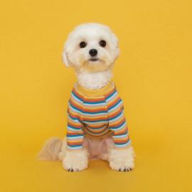 [FLOT] Rainbow, Logo T-shirt Dog Clothes, Yellow _ Dog Shirts, Pet T-Shirts _ Made in KOREA