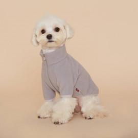 [FLOT] Fleece Zip Up, Dog Clothes, Gray _ Dog Shirts, Pet T-Shirts _ Made in KOREA