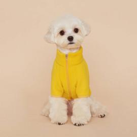 [FLOT] Fleece Zip Up, Dog Clothes, Yellow _ Dog Shirts, Pet T-Shirts _ Made in KOREA