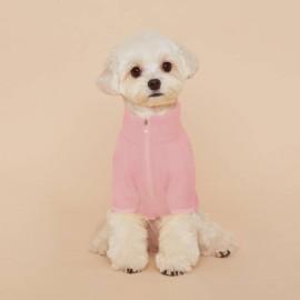 [FLOT] fleece zip up, dog clothe,s Pink _ Dog Shirts, Pet T-Shirts _ Made in KOREA