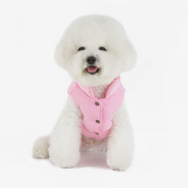 [TUSTUS] PADDING VEST Pink _ Dog Shirts Dog Clothes, Puppy Sleeveless T-Shirt Pet Clothes for Dog and Cat Wear, Made in Korea