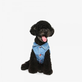 [TUSTUS] DENIM VEST _ Dog Shirts Dog Clothes, Puppy Sleeveless T-Shirt Pet Clothes for Dog and Cat Wear, Made in Korea