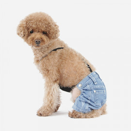 [TUSTUS] PUPPY JEANS LIGHT BLUE _ Dog Shirts Dog Clothes, Puppy Sleeveless T-Shirt Pet Clothes for Dog and Cat Wear, Made in Korea