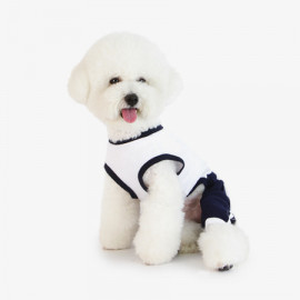 [TUSTUS] ALL IN ONE NAVY _ Dog Shirts Dog Clothes, Puppy Sleeveless T-Shirt Pet Clothes for Dog and Cat Wear, Made in Korea