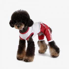 [TUSTUS] ALL IN ONE RED _ Dog Shirts Dog Clothes, Puppy Sleeveless T-Shirt Pet Clothes for Dog and Cat Wear, Made in Korea