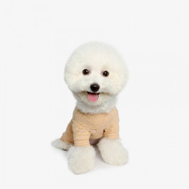 [TUSTUS] SLEEPWEAR ALL IN ONE YELLOW _ Dog Shirts Dog Clothes, Puppy Sleeveless T-Shirt Pet Clothes for Dog and Cat Wear, Made in Korea