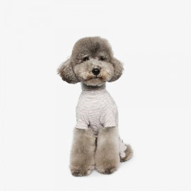 [TUSTUS] SLEEPWEAR ALL IN ONE BEIGE _ Dog Shirts Dog Clothes, Puppy Sleeveless T-Shirt Pet Clothes for Dog and Cat Wear, Made in Korea