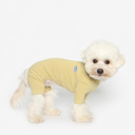 [TUSTUS] BASIC ALL IN ONE GREEN MUSTARD _ Dog Shirts Dog Clothes, Puppy Sleeveless T-Shirt Pet Clothes for Dog and Cat Wear, Made in Korea