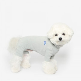 [TUSTUS] BASIC ALL IN ONE BLUE GRAY _ Dog Shirts Dog Clothes, Puppy Sleeveless T-Shirt Pet Clothes for Dog and Cat Wear, Made in Korea