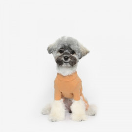[TUSTUS] BASIC ALL IN ONE ORANGE _ Dog Shirts Dog Clothes, Puppy Sleeveless T-Shirt Pet Clothes for Dog and Cat Wear, Made in Korea