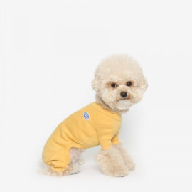 [TUSTUS] BASIC ALL IN ONE YELLOW _ Dog Shirts Dog Clothes, Puppy Sleeveless T-Shirt Pet Clothes for Dog and Cat Wear, Made in Korea