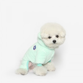 [TUSTUS] BEAR BEAR FLEECE ALL IN ONE MINT _ Dog Shirts Dog Clothes, Puppy Sleeveless T-Shirt Pet Clothes for Dog and Cat Wear, Made in Korea