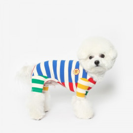 [TUSTUS] COLORBLOCK ALL IN ONE _ Dog Shirts Dog Clothes, Puppy Sleeveless T-Shirt Pet Clothes for Dog and Cat Wear, Made in Korea