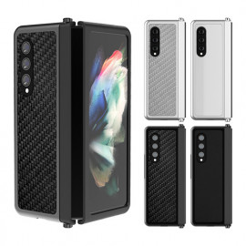 [S2B] Alpha Galaxy Z Fold 3 Slim Fit Stand Bumper (Carbon) _ 4 Sensuous Colors Designed for Samsung Galaxy Z Fold 3, Made in Korea