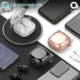 [S2B] Galaxy Buds Live / Pro Clear Hard Case Cover _ Support Wireless Charging Cover Full Cover Protective Case Compatible for Samsung Galaxy Buds Live(2020)/Galaxy Buds Pro(2021), Made in Korea