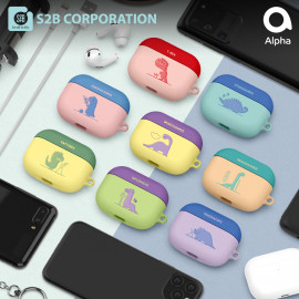 [S2B] DINO AirPods Pro Case Cover _ Wireless Charging Cover Full Cover Protective Case Compatible for Apple Airpods Pro, Made in Korea