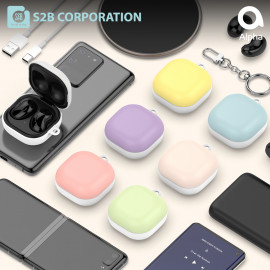 [S2B] Pastel Galaxy Buds Live / Pro Case Cover _ Hard Case Support Wireless Charging Cover Full Cover Protective Case Compatible for Samsung Galaxy Buds Live(2020)/Galaxy Buds Pro(2021), Made in Korea