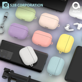 [S2B] Pastel AirPods Pro Case Cover _ Hard Case Wireless Charging Cover Full Cover Protective Case Compatible for Apple Airpods Pro, Made in Korea