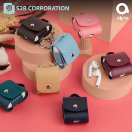 [S2B] Rainbow AirPods Case Cover _ Mini bags Cover Full Cover Protective Case Compatible for Apple Airpods 1 & 2, Made in Korea