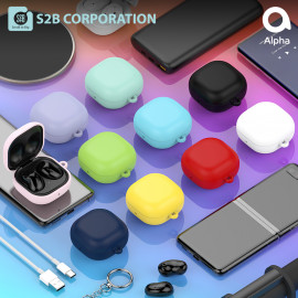 [S2B] Galaxy Buds Live / Pro Soft Case Cover _ Support Wireless Charging Cover Full Cover Protective Case Compatible for Samsung Galaxy Buds Live(2020)/Galaxy Buds Pro(2021), Made in Korea