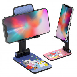 [S2B] BT21 Foldable Stand   _ Phone Stand for Desk, Foldable Stand Compatible with For Android Phone, Samsung Galaxy, iPhone, Tablet, E-book reader