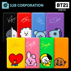[S2B] BT21 Power Bank 5000mAh _Portable Charger with iPhone, Samsung Galaxy, Android Phone, Tablet & etc