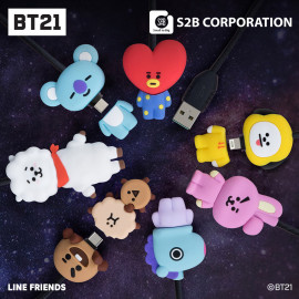 [S2B] BT21 Character Cable _ Authentic BT21 Product, MFi C89 Cable,  2.4A Fast Charging Cable, for iPhone 12/11 Pro Max Mini, SE XS Max XR X, 8/7/6 Plus, iPad, AirPods,