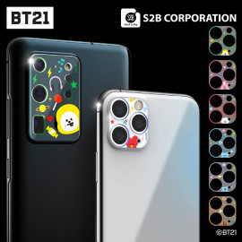 [S2B] BT21 Camera Protector _ Cell Phone Camera Lens Protector for iPhone SAMSUNG Galaxy, Easy Installation, Anti-Scratch