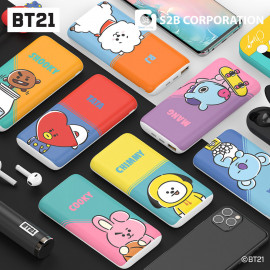 [S2B] BT21 Wireless Power Bank _Portable Charger 10000mAh, 2 inputs & outputs with iPhone, Samsung Galaxy, Android Phone, Tablet & etc