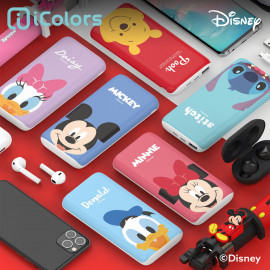 [S2B] DISNEY Face Power Bank 10,000mAh _ Mickey Mouse Minnie Mouse,  Portable Charger Quick Charging with iPhone, Samsung Galaxy, Tablet & etc