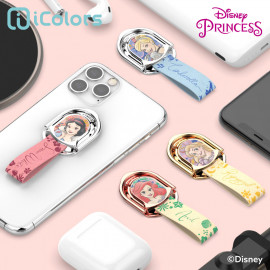 [S2B] DISNEY Princess Beauty Ring Holder_ Disney Character,  holder Phone Strap Phone Grip Compatible with All Smartphone Cases, with iPhone, Samsung Galaxy, Other smartphones, Tablet