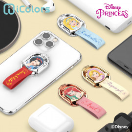 [S2B] DISNEY Princess Shiny Ring Holder_ Disney Character,  holder Phone Strap Phone Grip Compatible with All Smartphone Cases, with iPhone, Samsung Galaxy, Other smartphones, Tablet