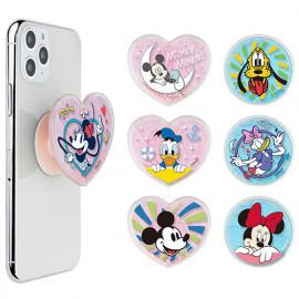 [S2B] DISNEY Tropical Glitter Tok (Heart) _ Disney Character,  Attachable Phone Holder,  Made in Korea