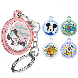 [S2B] DISNEY Tropical Airtag Transparent Case  _ Disney Character, Cover Protective Case  Made in Korea