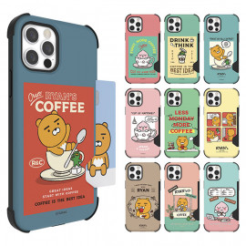 Kakao Friends Cafe Bulletproof Combo Card Case  For Galaxy_ Card Storage Slim Card Case, Dual Structure To Protect Domestic Product ,Made in Korea