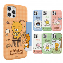 [S2B] Kakao Friends Daily Slim Card Case for Galaxy (Picnic, Home) _ Slim Card Bumper Full Body Protective Cover For Galaxy , Made in Korea