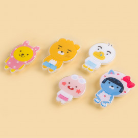 [S2B] KAKAOFRIENDS Little Friends Hello Summer StandTok _TUBE RYAN APEACH MUZI NEO, Pop Grip, Smartphone Grip Holder, Compatible with All Smartphone Cases, with iPhone, Samsung Galaxy, Tablet