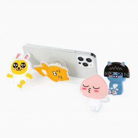 [S2B] KAKAOFRIENDS StandTok _RYAN APEACH MUZI NEO, Pop Grip, Smartphone Grip Holder, Compatible with All Smartphone Cases, with iPhone, Samsung Galaxy, Tablet