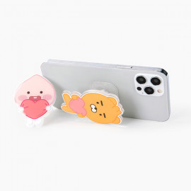 [S2B] KAKAOFRIENDS Little Friends SweetHeart StandTok _RYAN APEACH, Pop Grip, Smartphone Grip Holder, Compatible with All Smartphone Cases, with iPhone, Samsung Galaxy, Tablet
